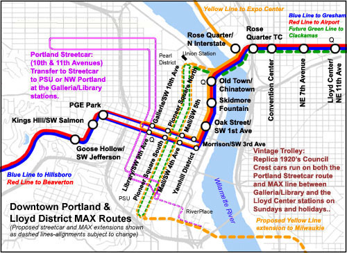 Worldnycsubway Portland MAX Route Map