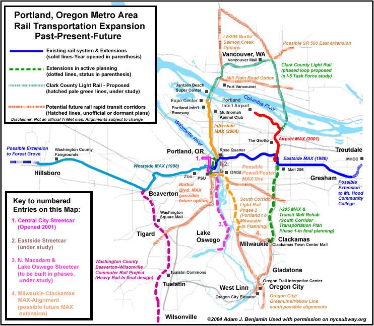 Worldnycsubway Portland MAX Future Map