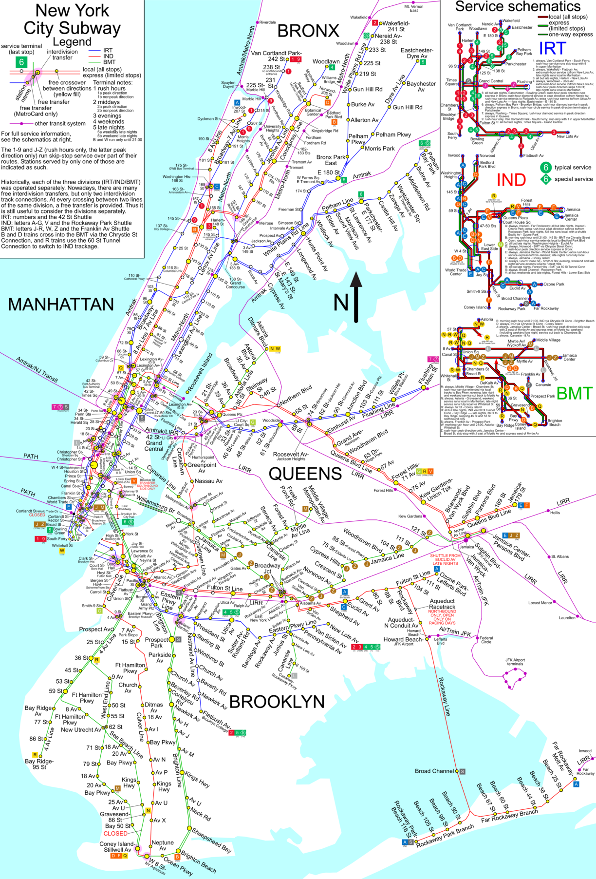 New York And Subway Map.Www Nycsubway Org New York City Subway Route Map By Spui