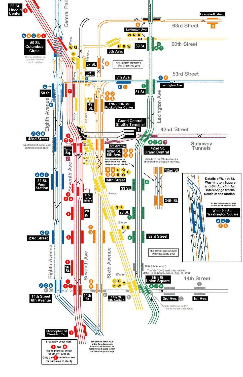 Map Of Times Square Subway Station