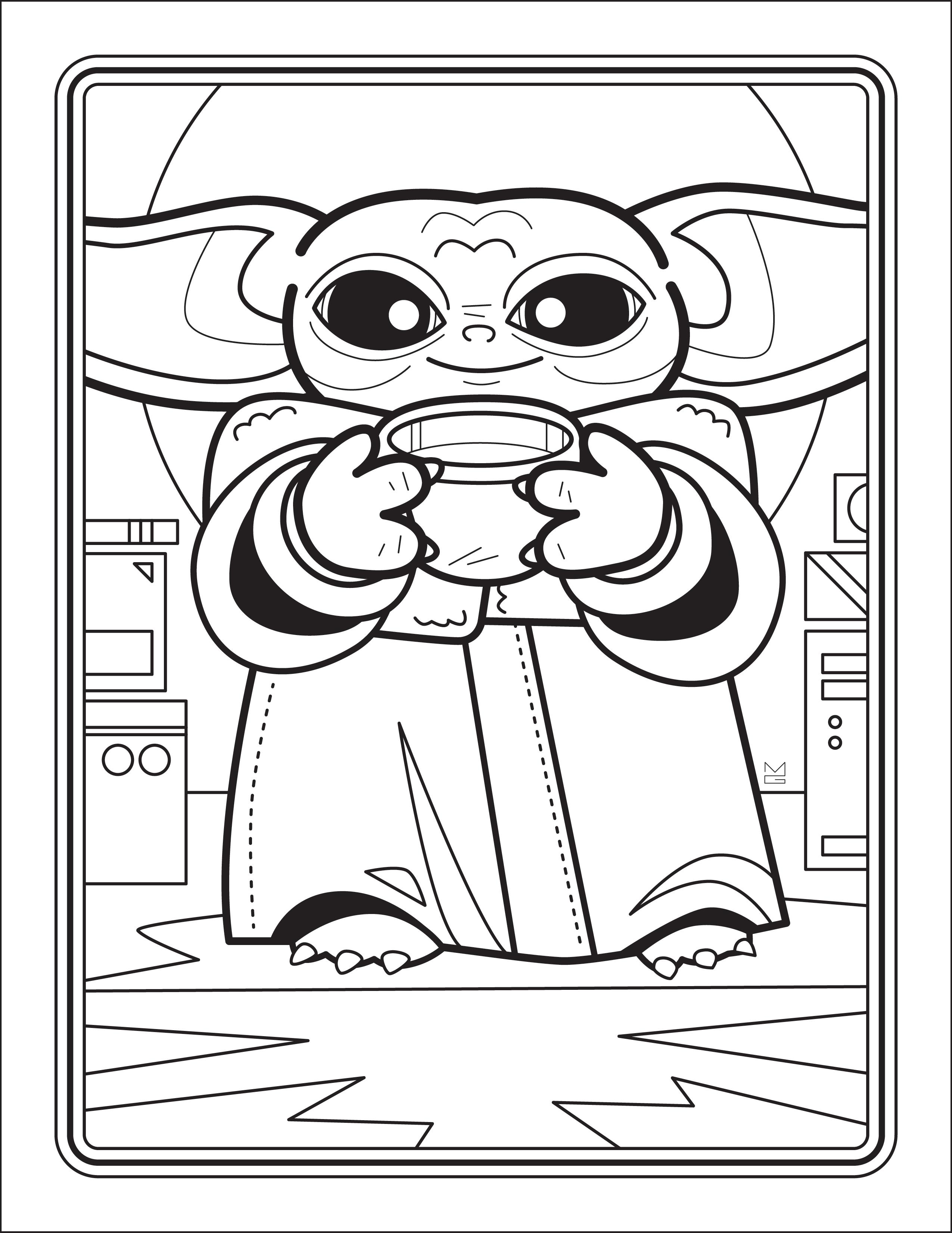 Baby Yoda Coloring Book / Vulture - martin gee