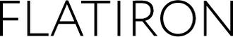 Flatiron black text with white bg