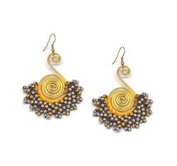 Cluster bead earrings  12179