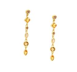 Amber crystal drop earring  41147