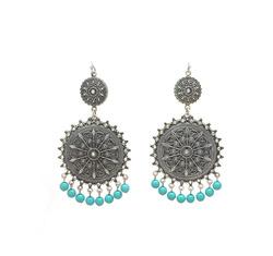 Ethnic turquoise bead earri  21917