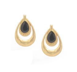 Matte gold teardrop earring  36503