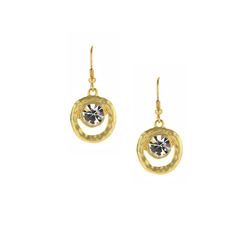 Mini crystal drop earrings  78096