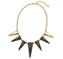 Black spike necklace  57945