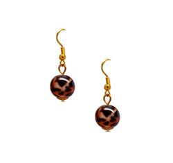 Wild bead drop earrings  46098