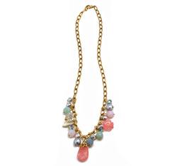Handmade necklace pink  14044