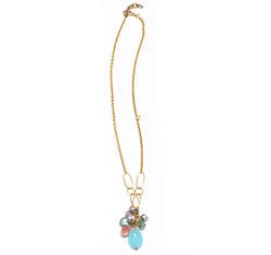 Blue handmade charm necklace  78416
