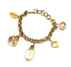 Vintage gold charm bracelet  29773