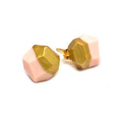 Pink gold studs  41777