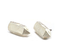 Silver nugget studs  08413