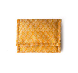 Yellowfabricwallet  28588