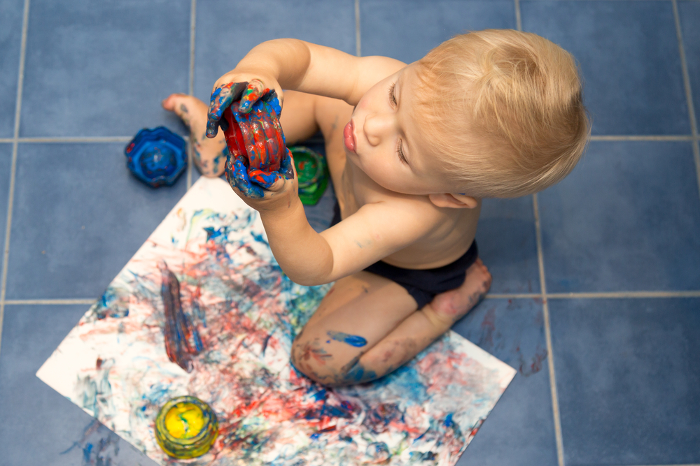 Messy play kids