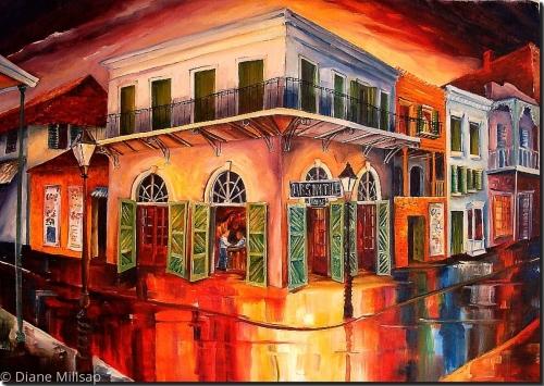 Painting The Olde Absinthe House Original Art By Diane Millsap