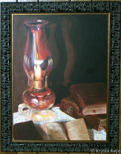 lamp and bible - photo #46