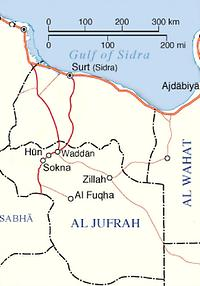 Figure 1: Al Jufrah area in Libya