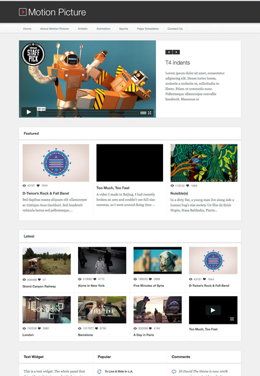 Motion Picture - Obox Themes