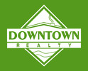 Downtown realty logo green