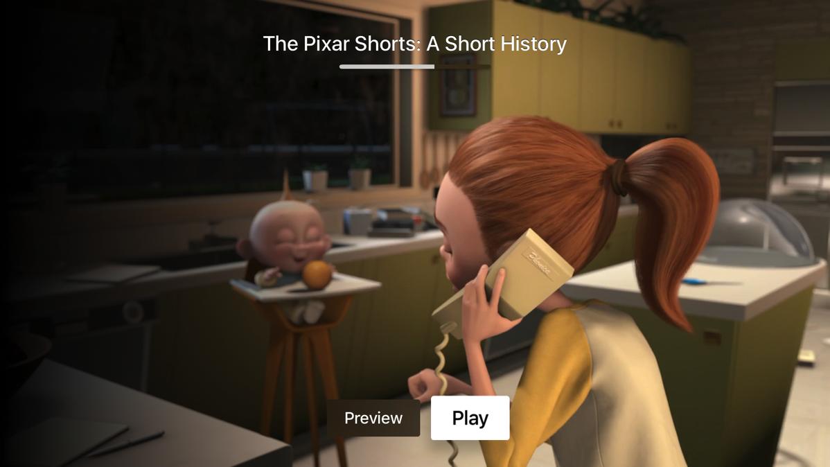 Pixar continue UI