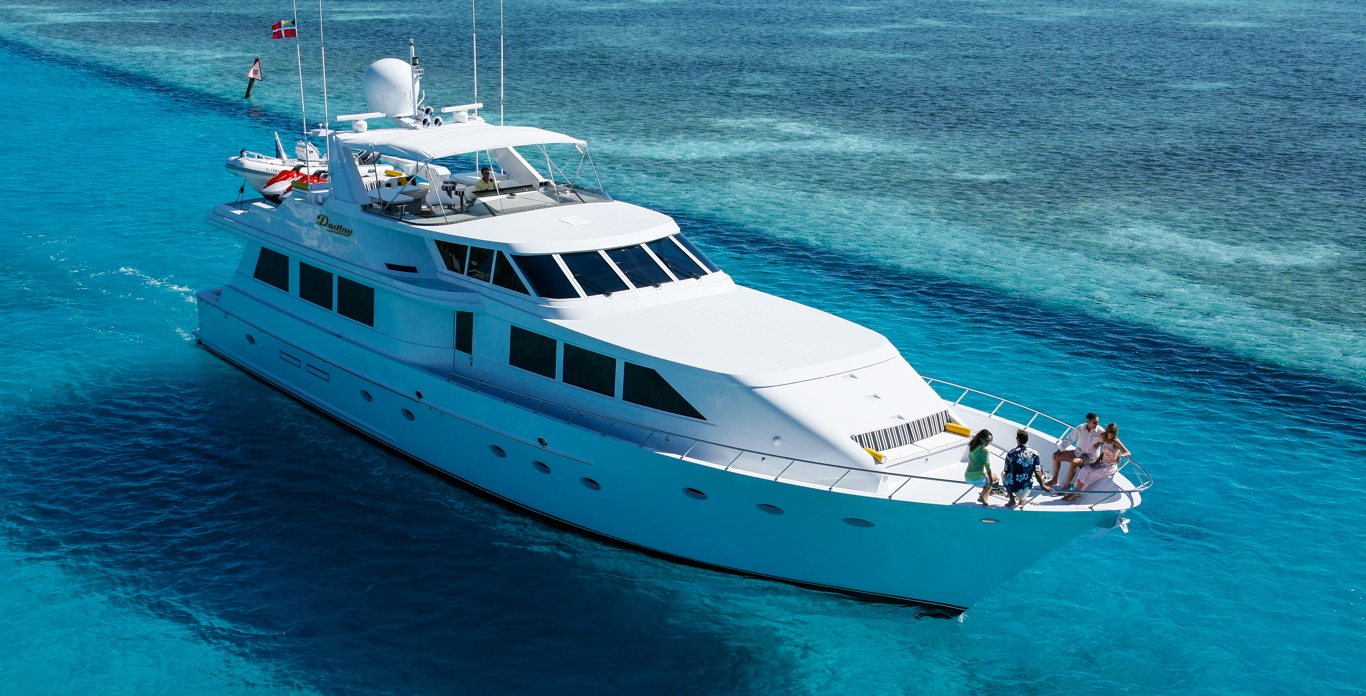 Luxury Motor Yacht charter in St. Thomas