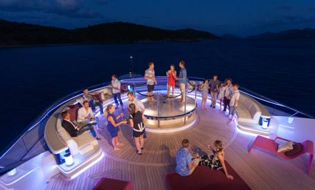 party on a private yacht charter