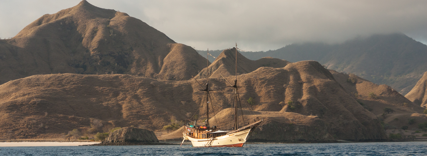 Phinisi at anchor in Komodo
