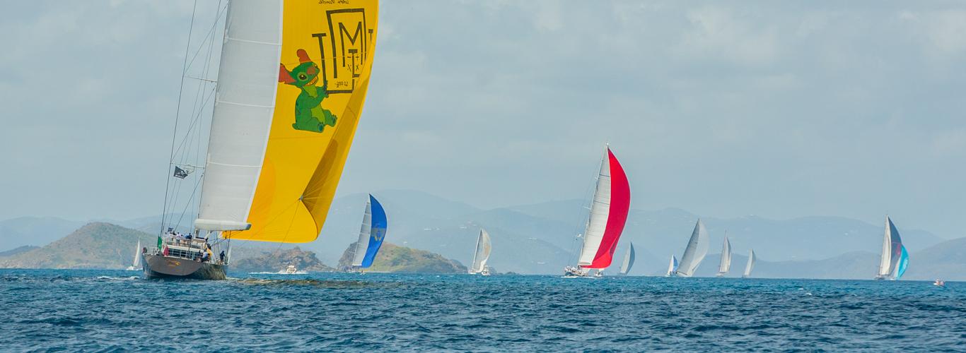 Superyachts In a Colorful & Fun Regatta in the Virgin Islands