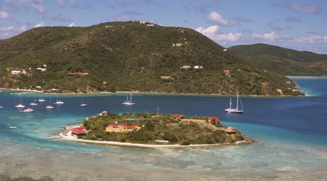 charter yachts anchored off Marina Cay, BVI