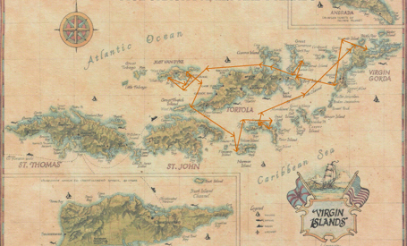 Virgin Islands map Groups Sample Itinerary