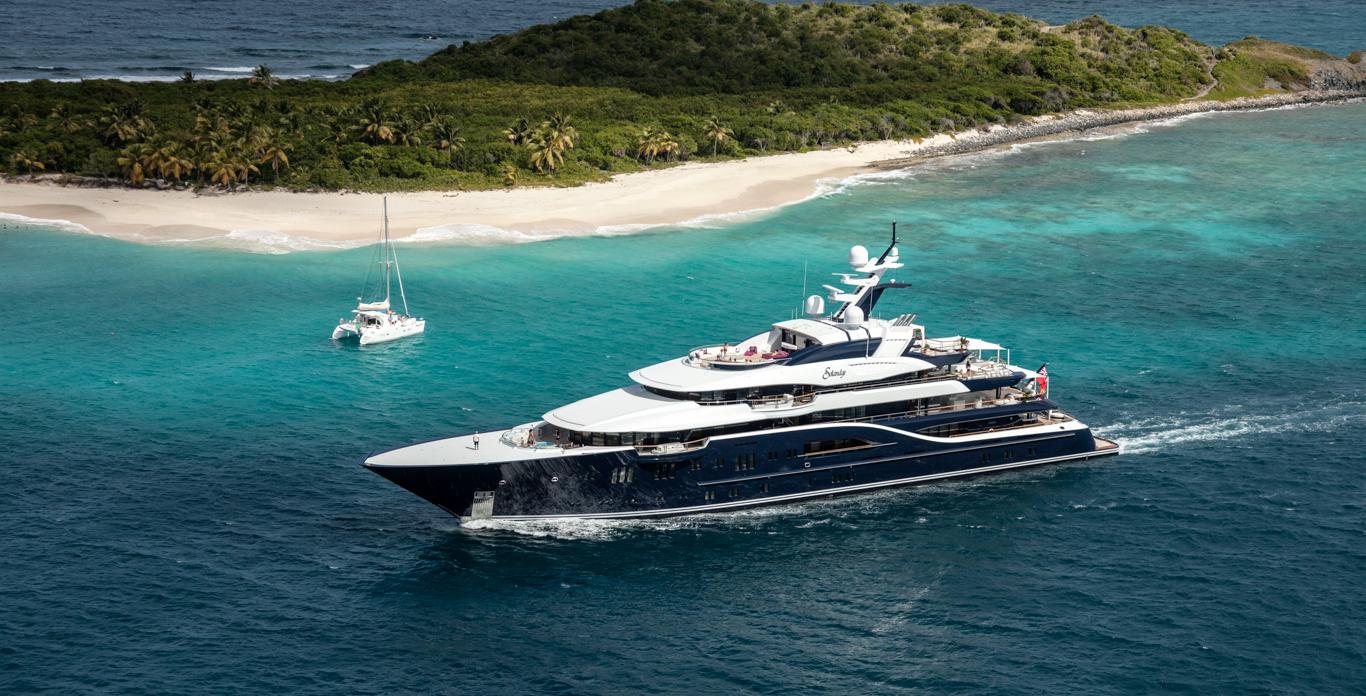 Super yacht Solandge in the USVI