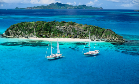 charter yachts at anchor in St. Vincent and Grenadines