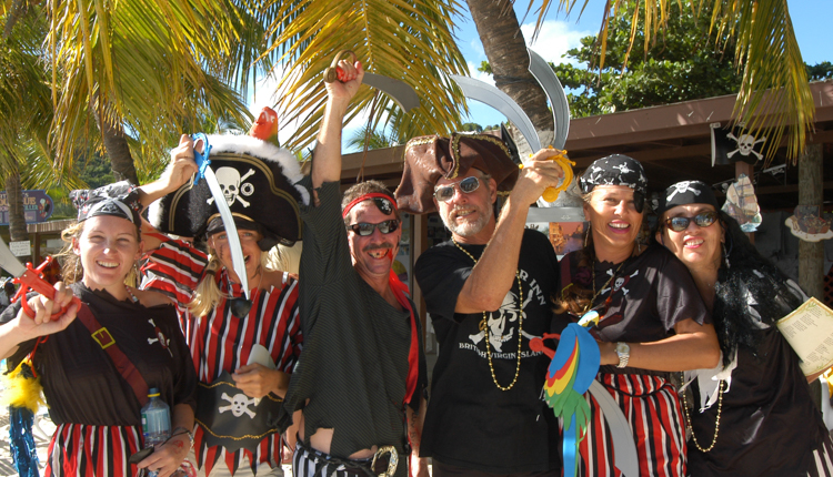 Pirates party on Jost Van Dyke