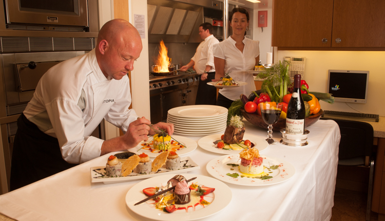 World Class Cuisine on Luxury Yacht Charters
