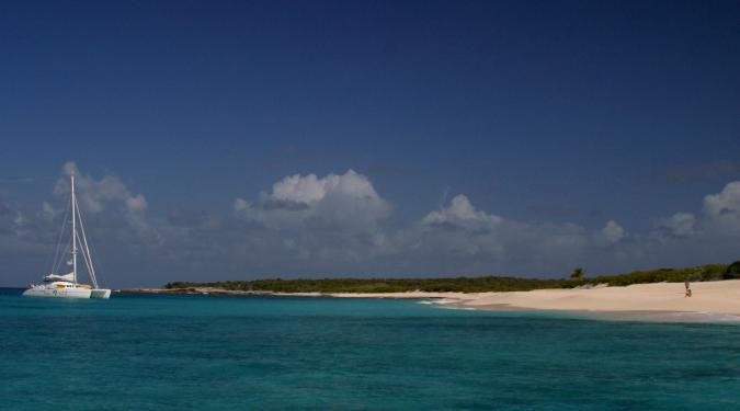 Deserted Beach on an Anguilla Yacht Charter