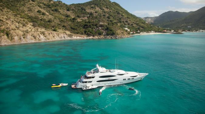 St. Maarten Yacht Charter Underway