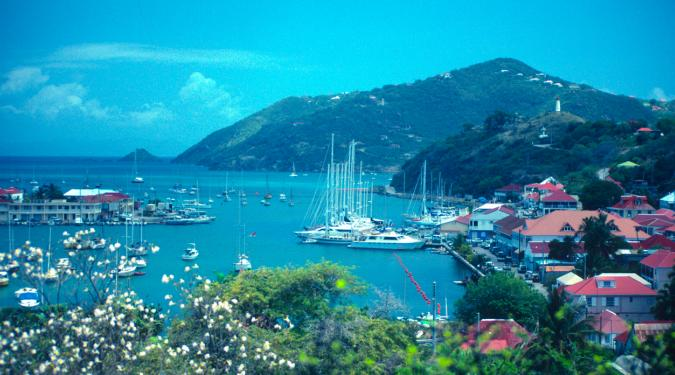 St. Barts Charter Yachts at Dock in Gustavia