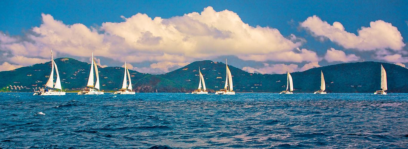Catamaran Fleet Sets Sail in the Caribbean