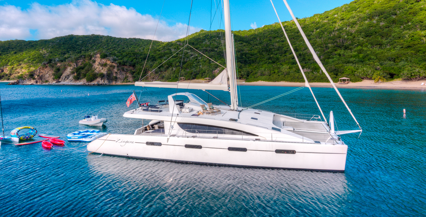 luxury catamaran charters on Zingara