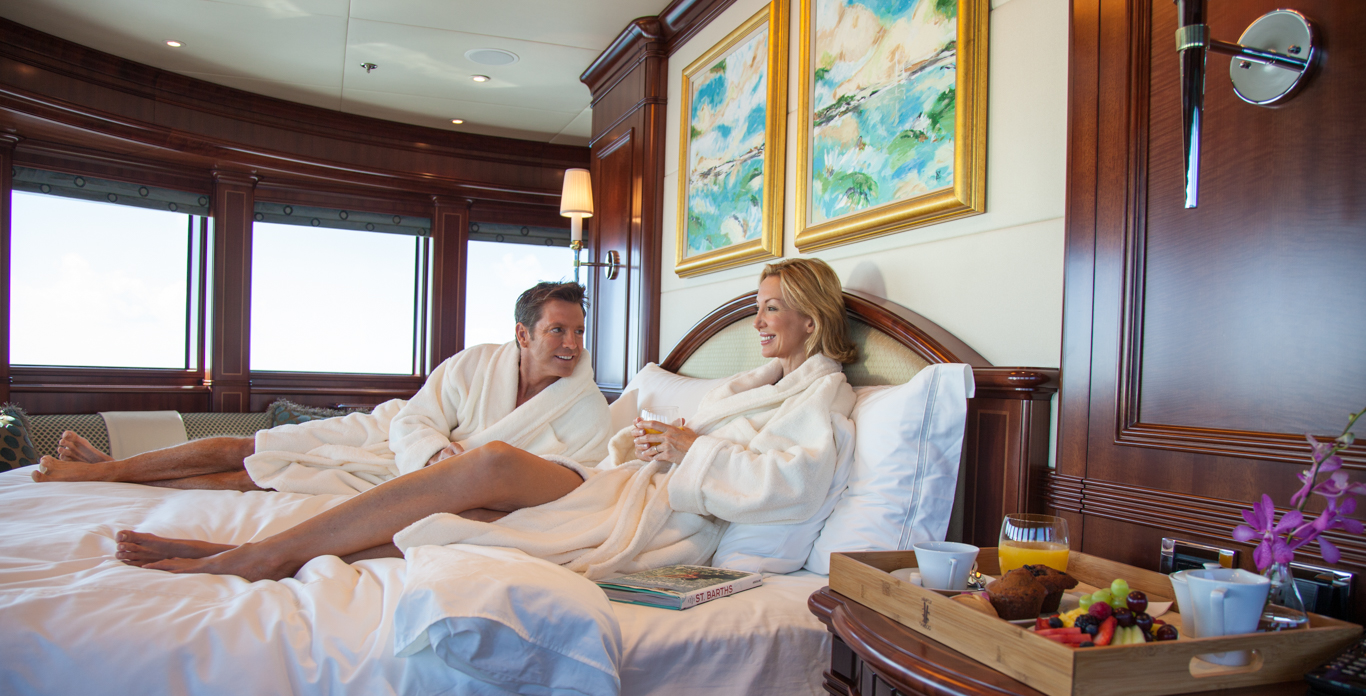 Master stateroom on Private superyacht charters