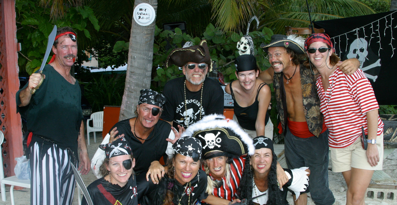 pirates' theme party on BVI yacht charter