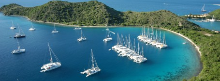 corporate group flotilla off Peter Island, BVI