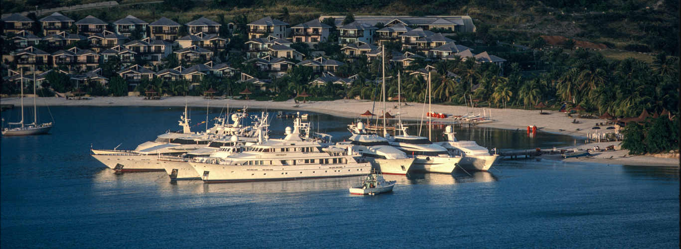 Superyacht Flotilla Berthed in Antigua