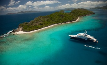 Superyacht charter anchored in U.S. Virgin Islands