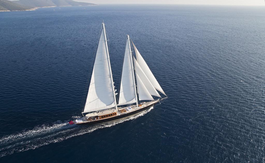 Sail Yacht 'Sail', 12 PAX, 9 Crew, 183.00 Ft, 56.00 Meters, Built 2011, Custom Built, Refit Year 2016