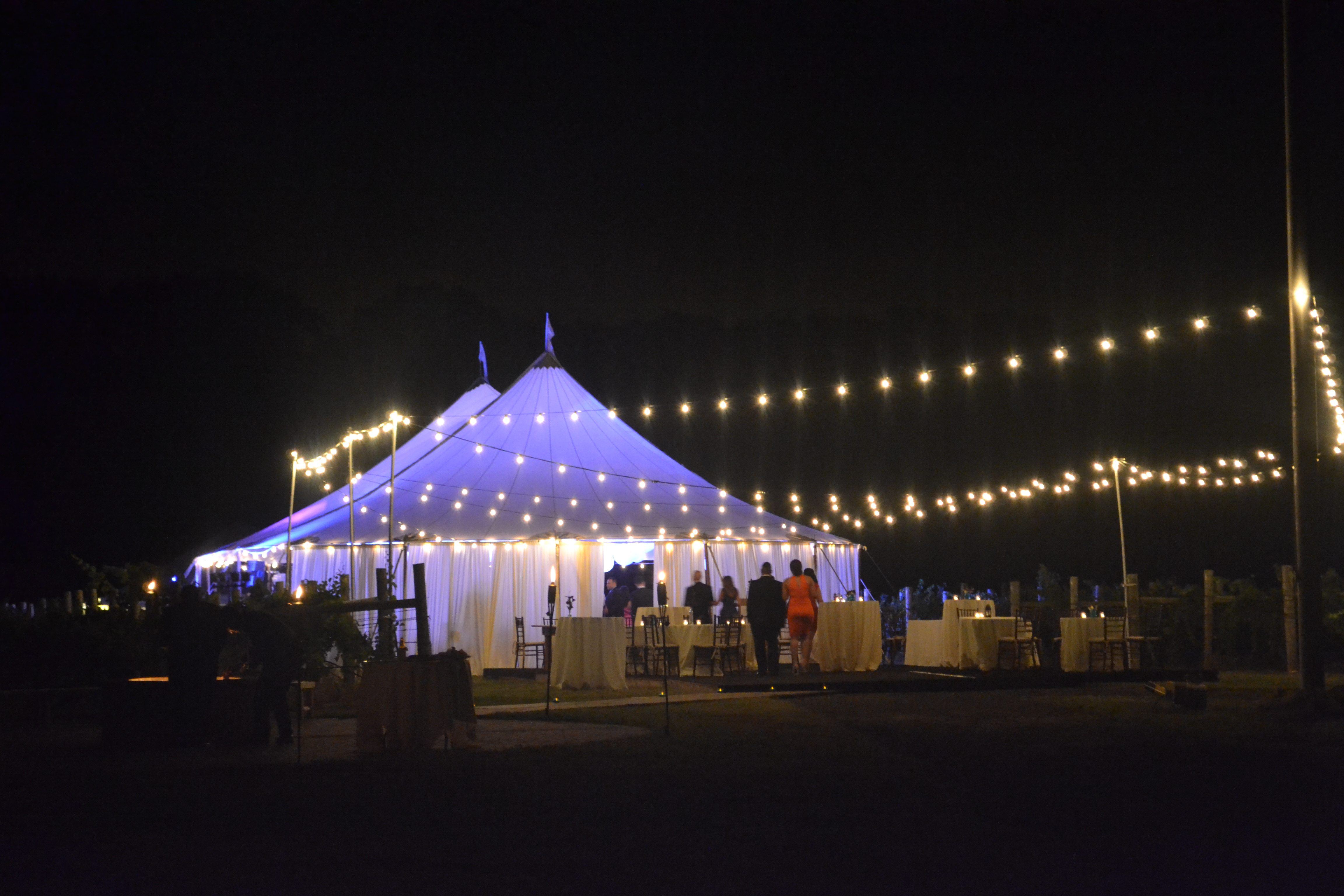 Bistro String Lighting & Ocean Tents-Bistro Lighting