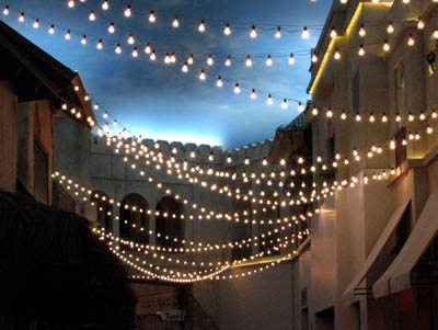ocean tents bistro lighting