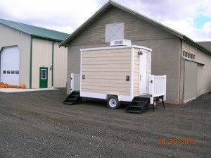 Small Like Home Restroom Trailer